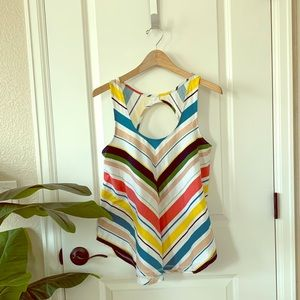 Anthropologie Deletta Open Back Flow Tank